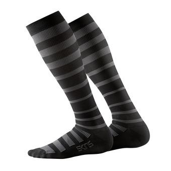 Calcetines de compresión hombre ESSENTIALS RECOVERY black/charcoal