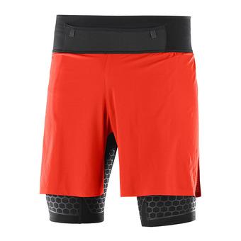 Short 2 en 2 hombre EXO TWINSKIN fiery red/black