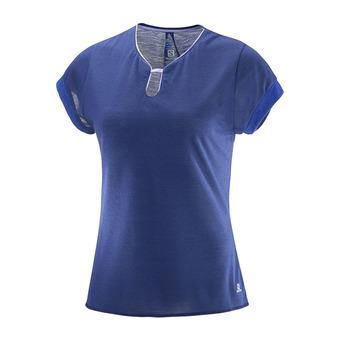 Camiseta mujer ELLIPSE U-NECK medieval blue