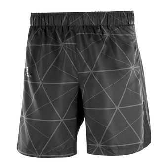 "Short homme AGILE 7"" black/white"