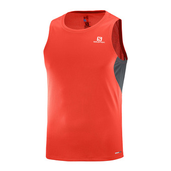 Camiseta sin mangas hombre AGILE fiery red