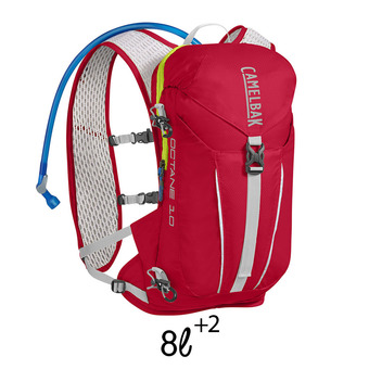 Sac à dos d'hydratation 8+2L OCTANE 10 crimson red/lime punch