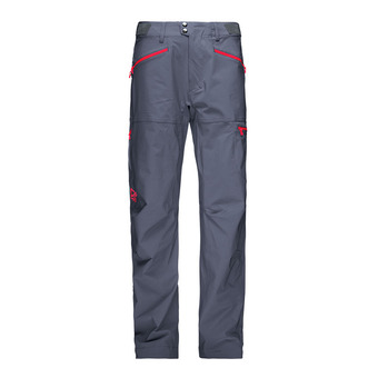 Pantalón hombre FALKETIND FLEX™1 cool black/crimson kick