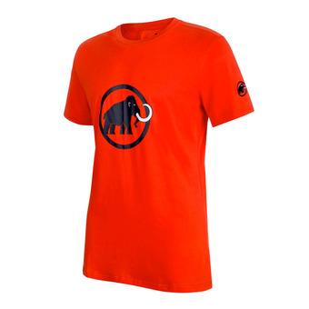 Camiseta hombre MAMMUT LOGO dark orange/marine