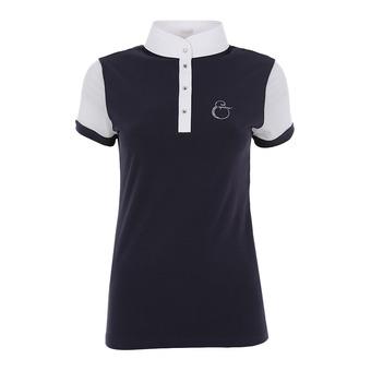 Polo de concours MC femme SUNNY bleu/blanc