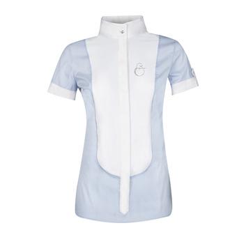 Chemise de concours MC femme OPALINE bleu clair