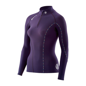 Maillot 1/2 zip ML femme DNAMIC THERMAL blackberry/violet
