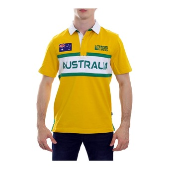Polo MC homme AUSTRALIA S/S RWC 2015 gold