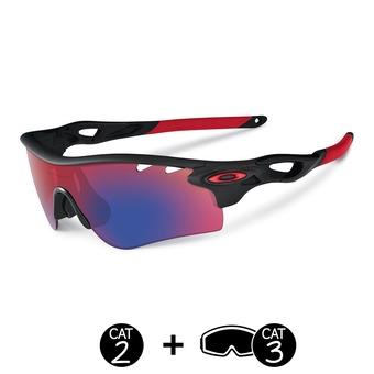 Gafas de sol polarizadas RADARLOCK™ PATH™ matte black ink/OO® red vented/black iridium® vented