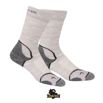 Calcetines mujer HIKE+ LT CREW blizzard hthr/white/oil