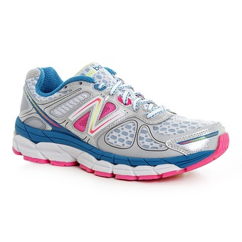 Zapatillas running mujer W860 white/pink