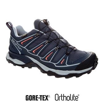 Zapatillas de senderismo mujer X ULTRA 2 GTX gy/bl/melon bloo