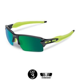 Gafas de sol polarizadas FLAK 2.0 XL black ink/jade iridium®