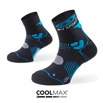 Socquettes de trail STX noir/bleu