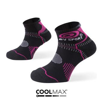 Socquettes de trail femme STX noir/fushia