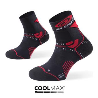 Chaussettes de trail STX+ noir/rouge