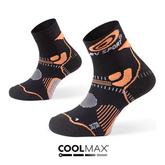 Calcetines de trail STX+ negro/naranja