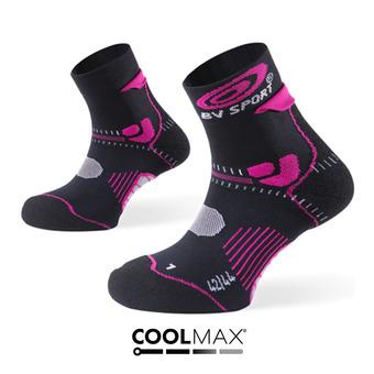 Chaussettes de trail femme STX+ noir/fushia