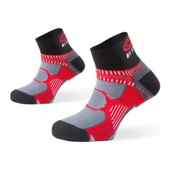 Calcetines de running RSX rojo/negro/gris