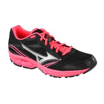 Chaussures running femme WAVE IMPETUS 3 black/silver/neon pink