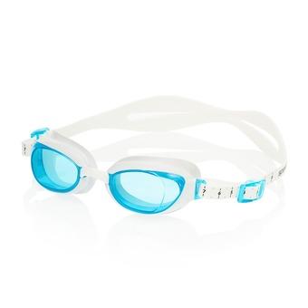 Lunettes de natation femme AQUAPURE white/blue