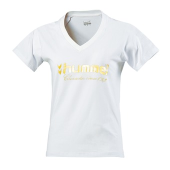 Tee-shirt femme UNIVERS blanc/or