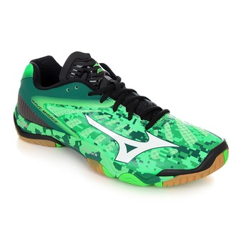Chaussures handball homme WAVE MIRAGE neon green/white/black