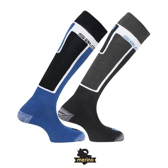 Pack de dos pares de calcetines ELIOS black/union blue