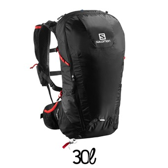 Mochila 30L PEAK black/bright red