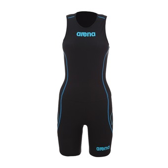 Tritraje mujer TRISUIT ST REAR ZIP black/turquoise