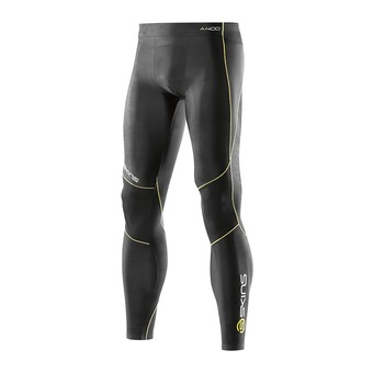 Collant de compression homme A400 black/yellow logo line