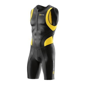 Combinaison trifonction zip avant homme TRI400 black/yellow