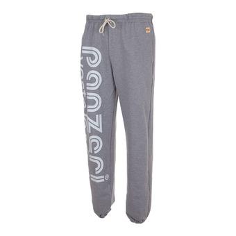 Pantalón de chándal HOBBY L gris jaspeado/blanco