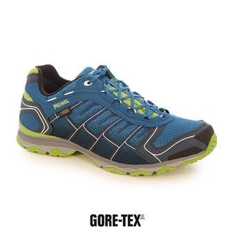 Zapatillas de senderismo hombre X-SO 30 GTX azul/verde menta