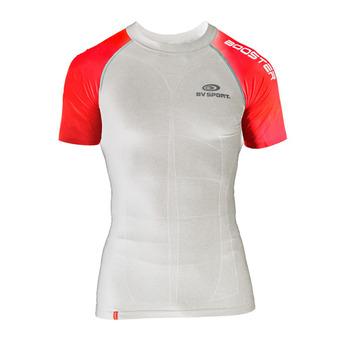 Camiseta sin mangas hombre SKAEL blanco/rojo