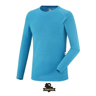 Camiseta térmica hombre C WOOL BLEND 150 electric blue