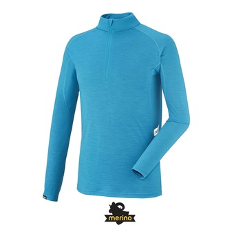 Camiseta térmica hombre CARLINE WOOL BLEND 150 electric blue
