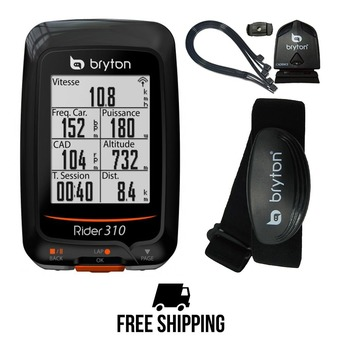 Compteur de vélo RIDER 310 T avec capteur cadence/ fréquence cardiaque