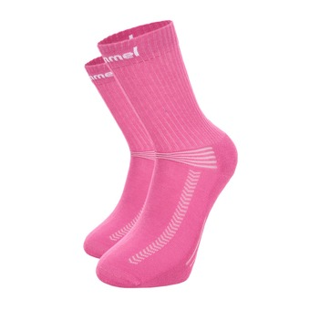 Chaussettes INDOOR BAS rose/blanc