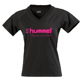 Tee-shirt MC femme UNIVERS noir/rose fluo