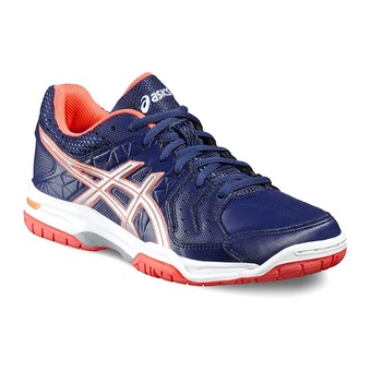 Chaussures handball femme GEL SQUAD indigo blue/silver/flash coral