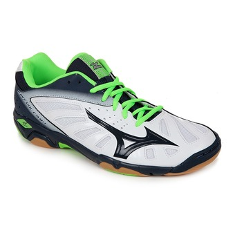 Chaussures handball homme WAVE VOLCANO white/dressblue/greengec