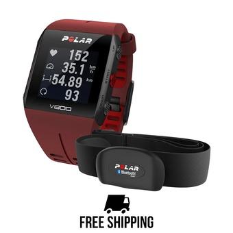 Reloj GPS V800 HR rojo