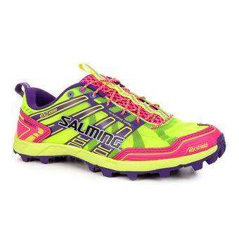 Chaussures running/trail femme ELEMENTS jaune/rose