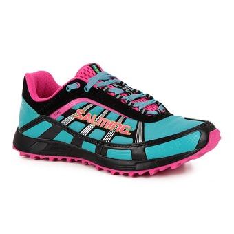 Zapatillas running/trail mujer TRAIL T2 turquesa/negro