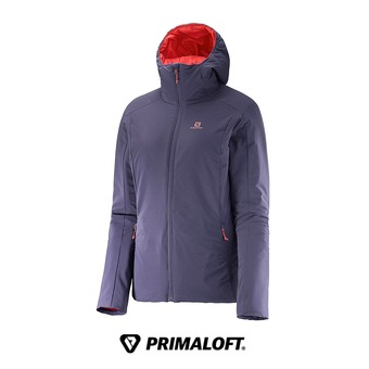 Chaqueta con capucha reversible aislante/impermeable mujer DRIFTER nightshade grey/infrared