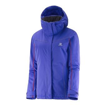 Chaqueta con capucha de esquí mujer STORMSEEKER phlox violet