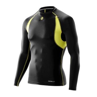 Camiseta térmica hombre CARBONYTE black/yellow