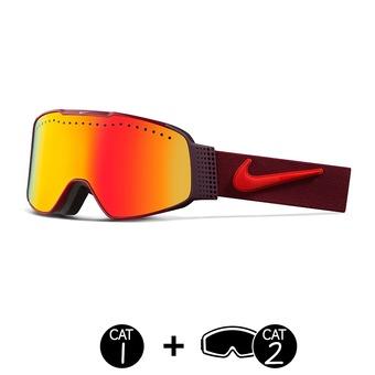 Gafas de esquí FADE team red-bright crimson/yellow red ion/dark smoke-2 pantallas