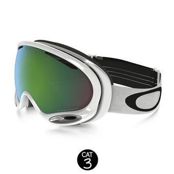 Masque de ski A-FRAME 2.0 polished white - prizm jade iridium